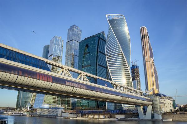 Москва река, Москва-Сити, мост Багратион, Moscow International Business Center, Moscow River, Bagration Bridge