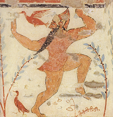 Tomb of the Augurs painting, настенная роспись могилы авгуров