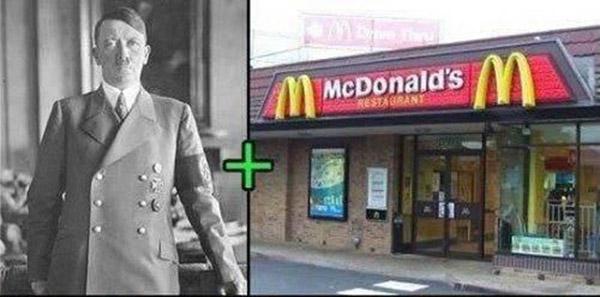 Если бы Гитлер питался в McDonald's.