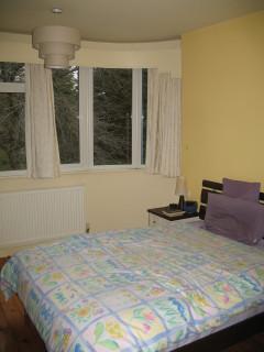 Bedroom pelmet, light shade, bed