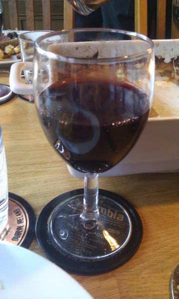 My glass of Chateau Margaux