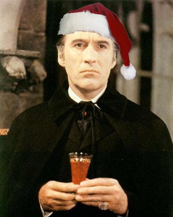 Dracula Scars Santa hat