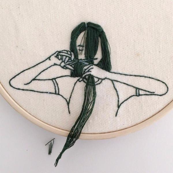 Шикарная вышивка Sheena Liam.