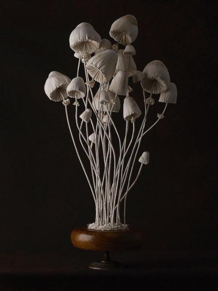 Магические тканевые скульптуры грибов