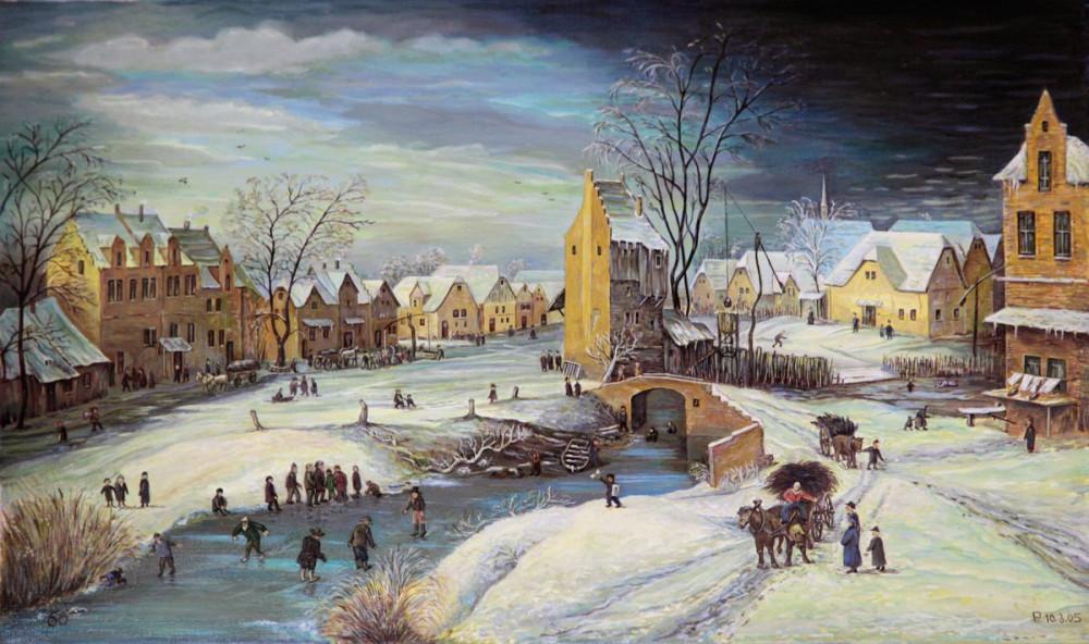 5651 Joos de Momper-Dorf im Winter