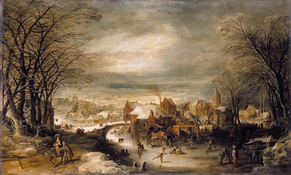 Joos_de_Momper_(II)_-_Winter_Landscape_with_the_Flight_into_Egypt_-_WGA16141