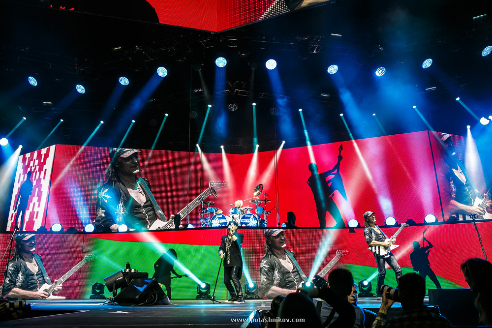 Фотографии с концерта Scorpions в Минске. Прощальный тур 50 лет группе. Photo Scorpions in Minsk