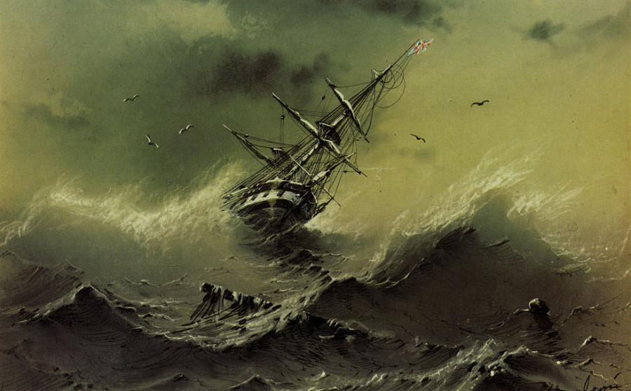 в синем море тонут лодки и большие корабли слушать