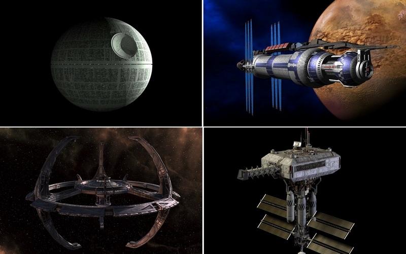 Космические станции в кино