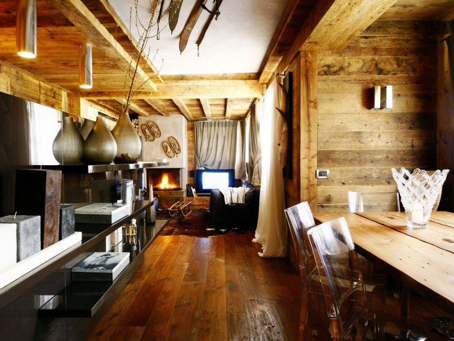 Rustic-Home-Cortina-dAmpezzo-Italy-Dining-Living-Space
