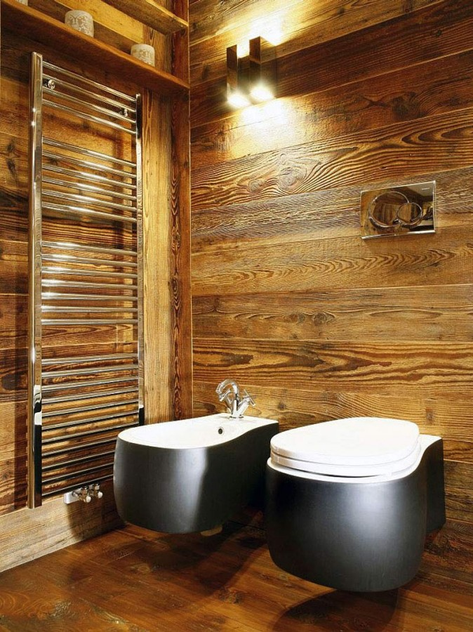Rustic-Home-Cortina-dAmpezzo-Italy-Wooden-Bathroom