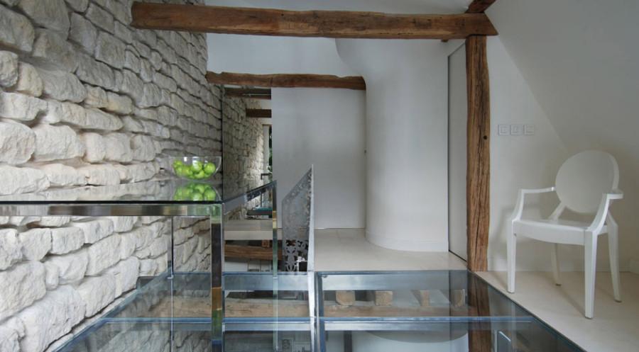 Apartment-Paris-France-Glass-Table-Floor