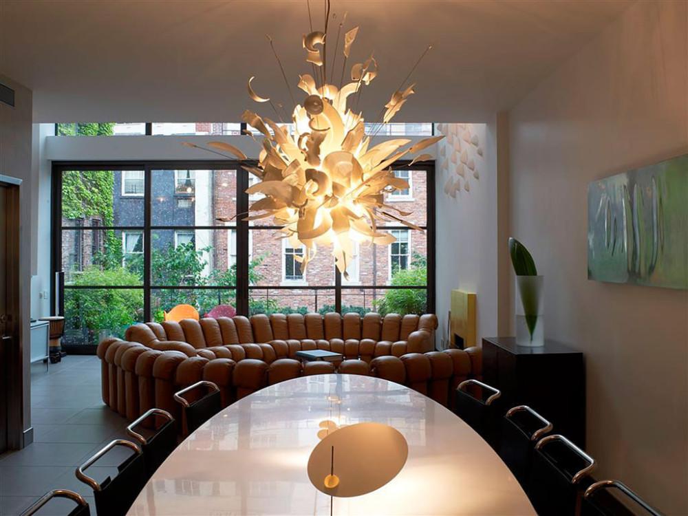 Townhouse-Renovation-Gramercy-Park-New-York-Dining-Table-Lighting