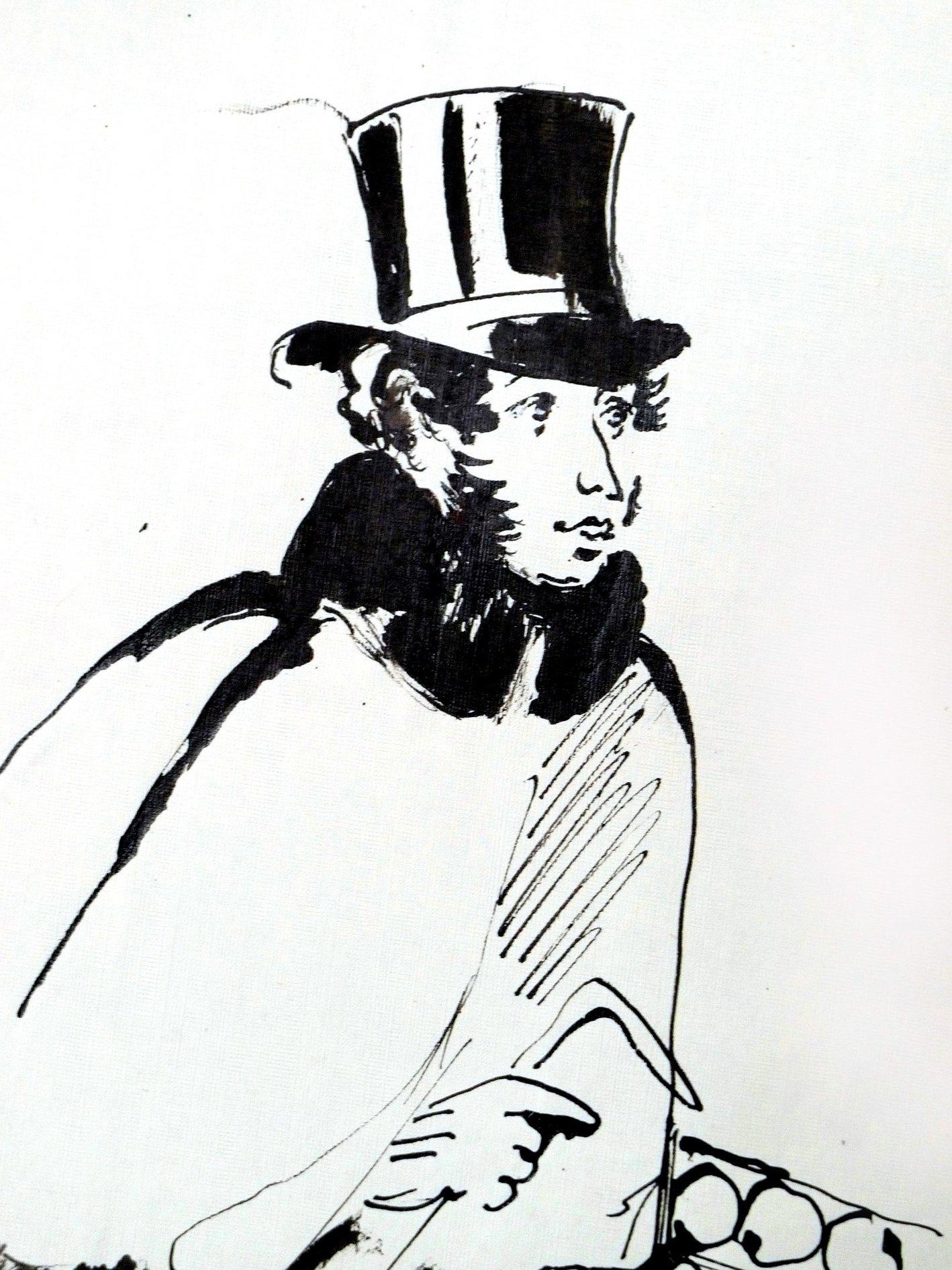 верю картинка пушкин в цилиндре тут