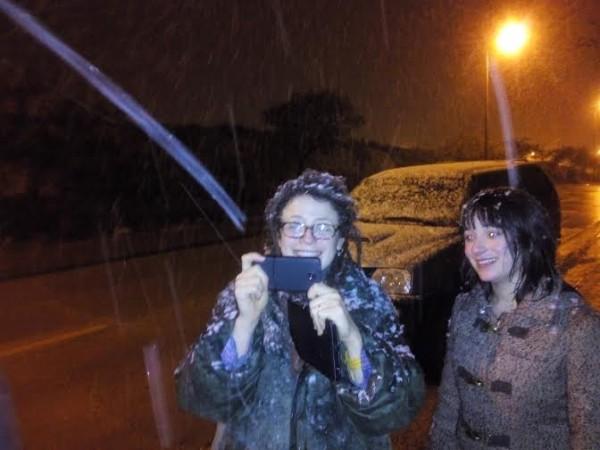 снег в араде