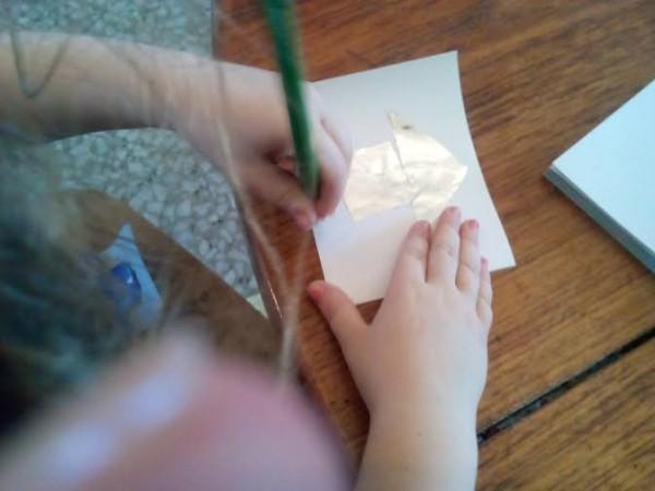 лель рисует домик 1