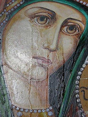 плачущая икона