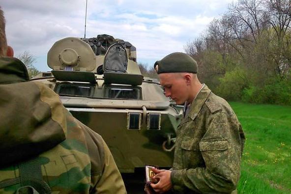 солдат украины с иконкой