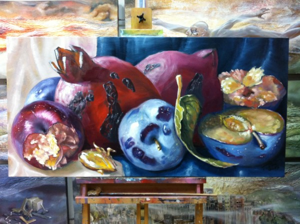 """Pomegranates and Plumes"""