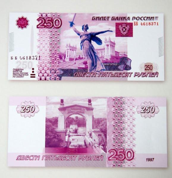 250 рублей с Волгоградом Коваль купюры рф