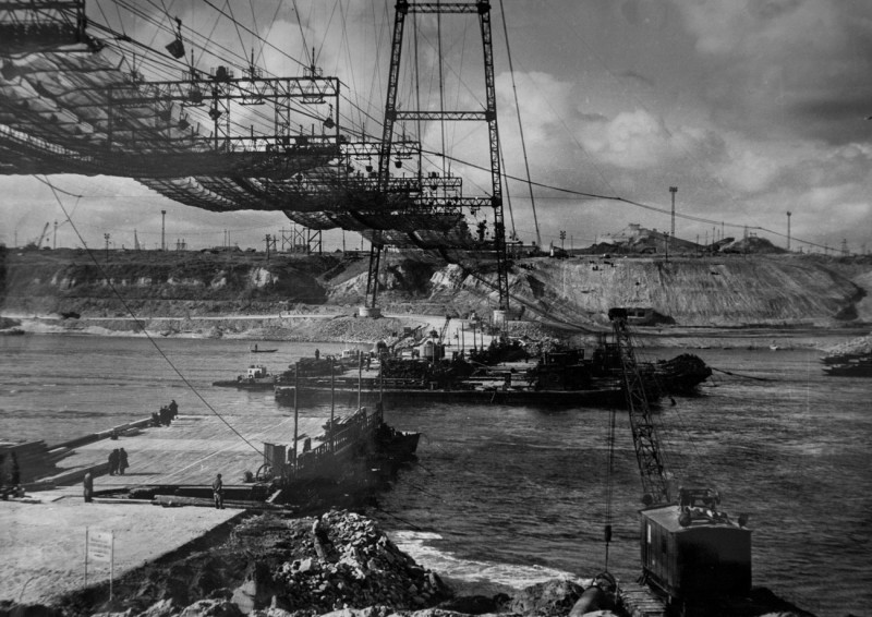 волжская гэс фотографии строительства