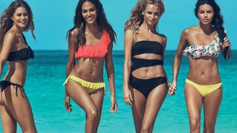 А это уже пляжная мода наших дней