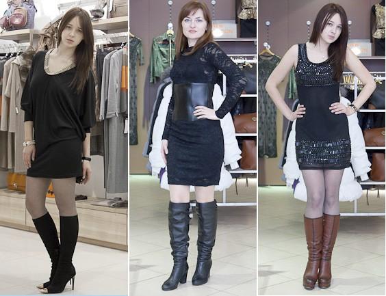Сапоги с платьем  предвкушая новогодние корпоративы  style 35plus 62804f33a3c38