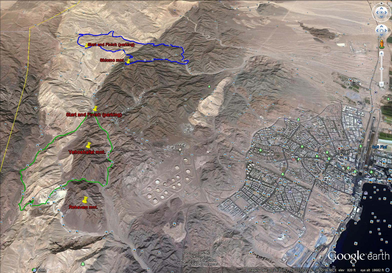 Eilat both treks