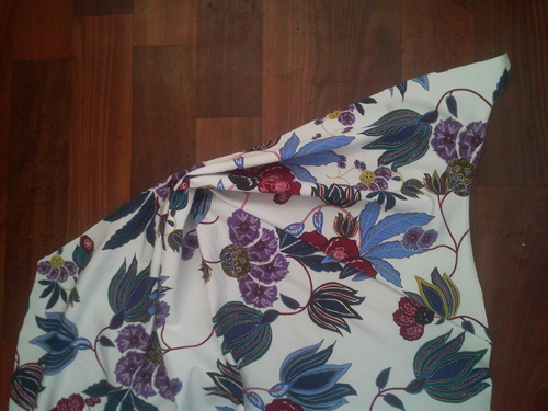 МК платья с Х-драпировкой по мотивам платья от Michael Kors. 11440