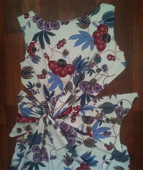 МК платья с Х-драпировкой по мотивам платья от Michael Kors. 13775