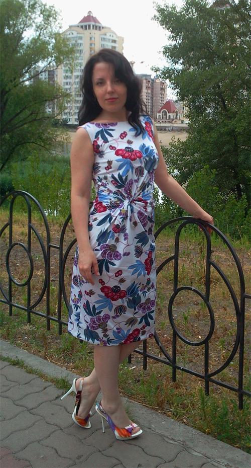 МК платья с Х-драпировкой по мотивам платья от Michael Kors. 91883