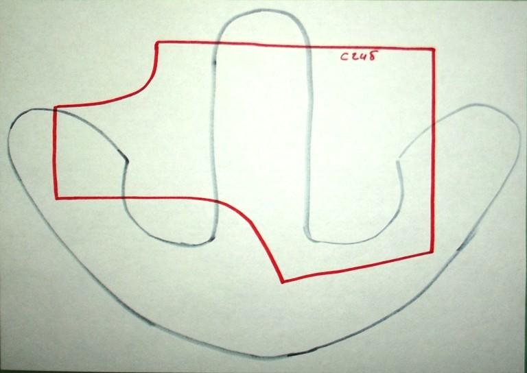 Выкройка комбинезоне для мишки