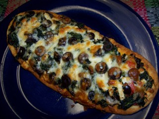Greek Pizza Flatbread