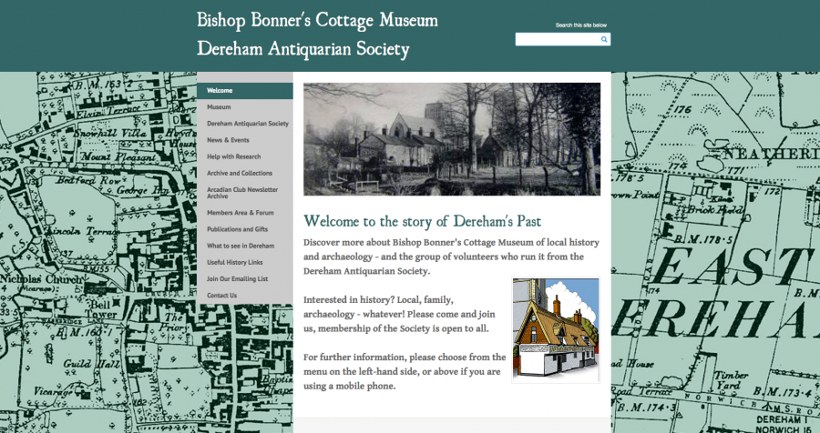 "Dereham Bishop Bonner""s Cottage website design"