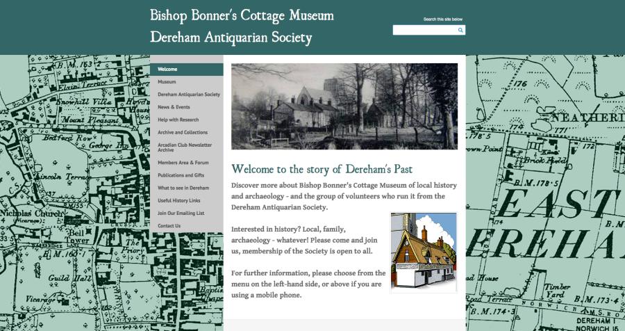 Dereham Bishop Bonner's Cottage website design