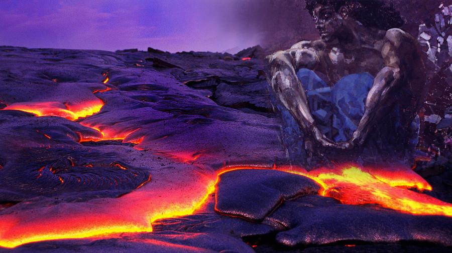Демон и лава