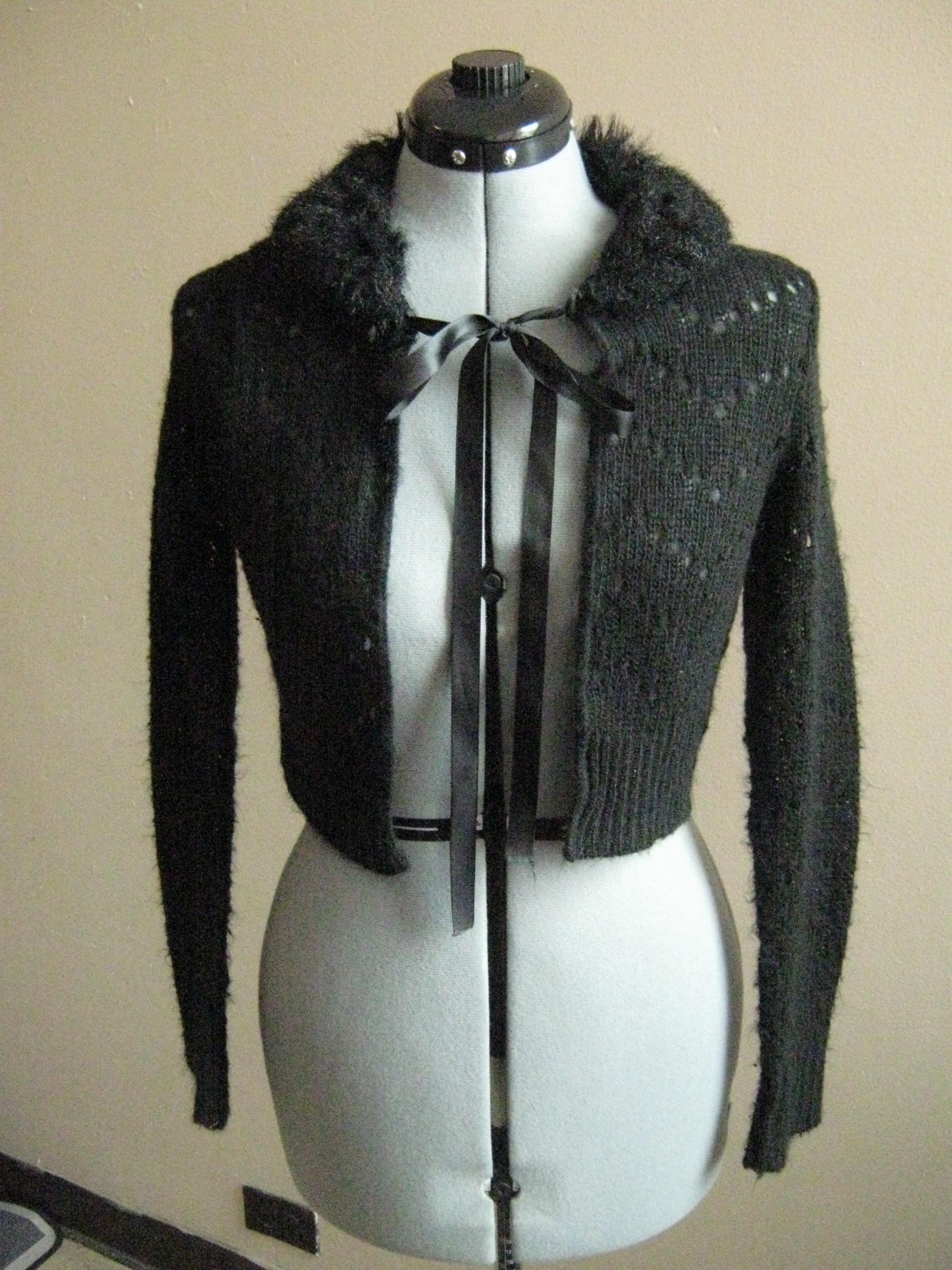 Offbrand Fur-collar Cardigan