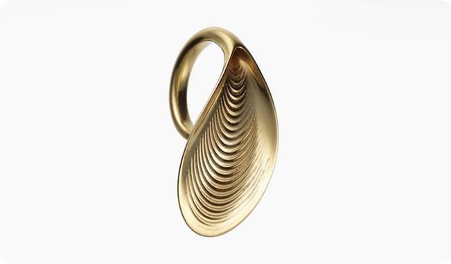 ross-lovegrove-foliate-3d-printed-gold-jewlery-designboom02