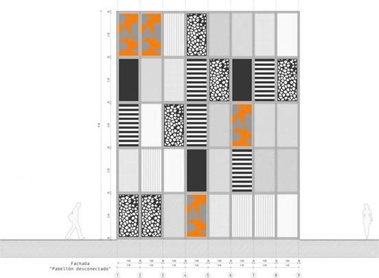 pabellón desconectado  pan b arquitectos (20) elevación pabellón