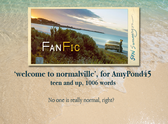 banner for welcome to normalville, for AmyPond45