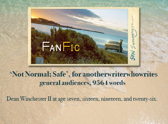 banner for 'Not Normal; Safe' for anotherwriterwhowrites