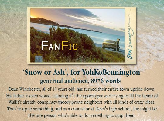 banner for 'Snow or Ash' for YohKoBennington