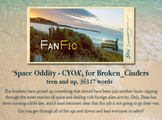banner for Space Oddity - CYOA, for Broken_Cinders