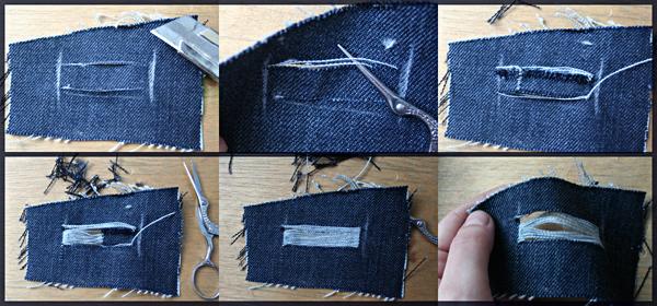Как сделать рваный джинсы с