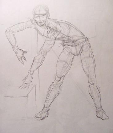2. линия движения фигуры