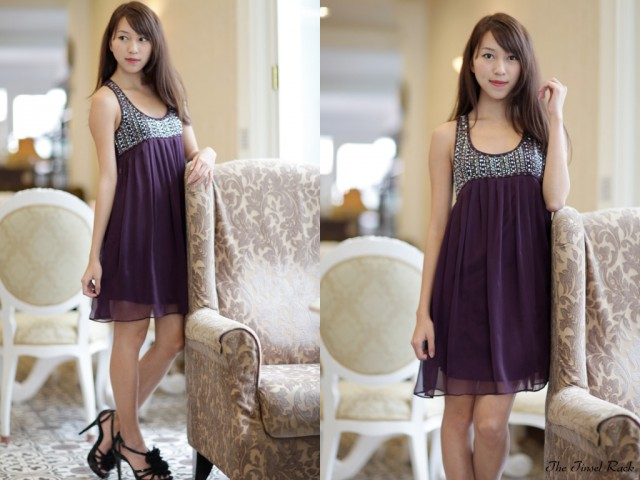 45ea14ae504eae TTR All That Glitters Dress in Violet Blooms size S $30.50