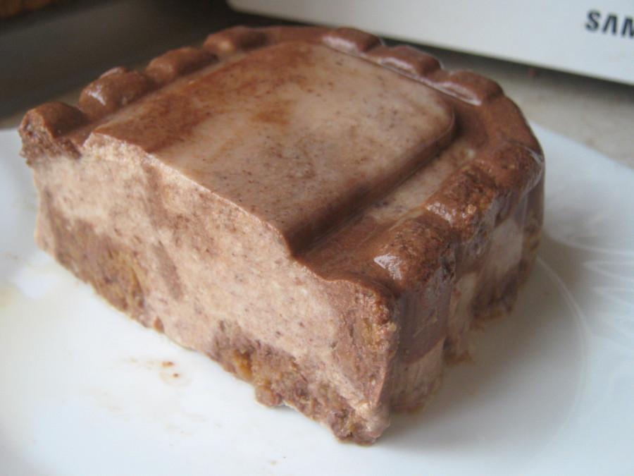 десерт шоколадная клумба