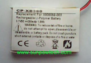 Microsoft Xbox 360 Wireless Headset battery X808059-003 S320x240