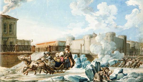 01 Кнаппе К. Ф., Мойка у Тюремного замка. 1798 год.