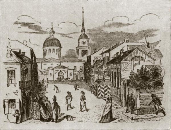 0 гравюре Е.Е.Бернардского (1845 г.) - заставке к поэме А.С.Пушкина